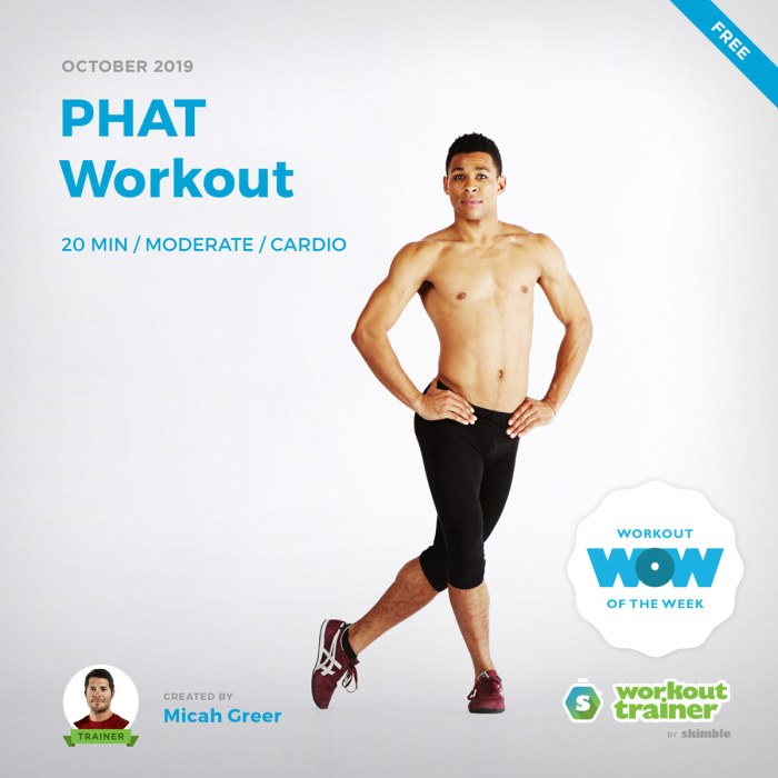 Workout Trainer by Skimble: Free Workout of the Week: PHAT Workout by Micah Greer