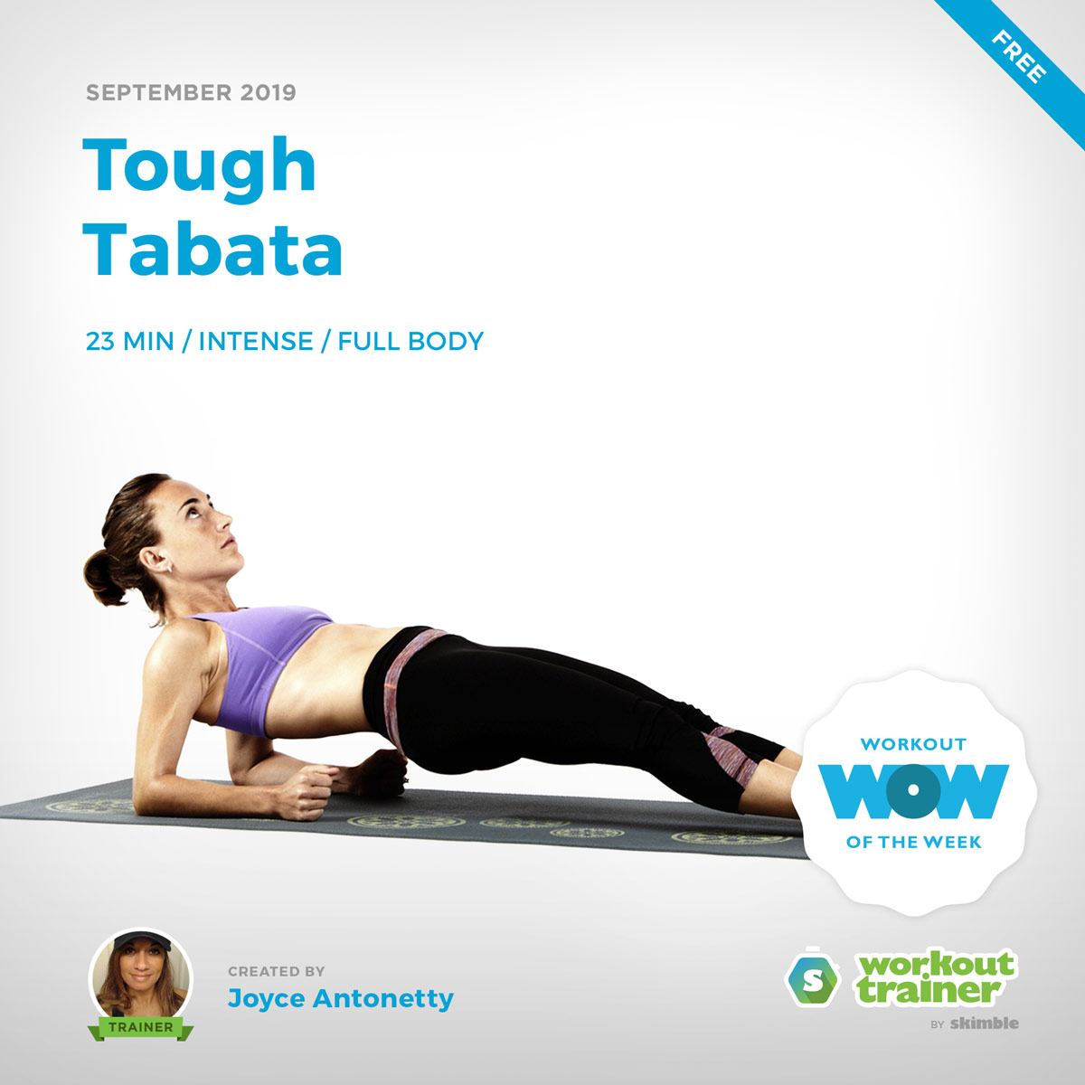 Workout Trainer by Skimble: Free Workout of the Week: Tough Tabata by Joyce Antonetty
