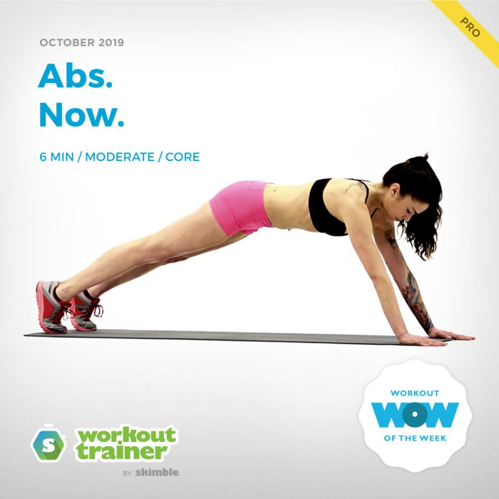 Workout Trainer by Skimble: Pro Workout of the Week: Abs. Now.