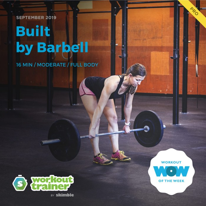 Workout Trainer by Skimble: Pro Workout of the Week: Built by Barbell