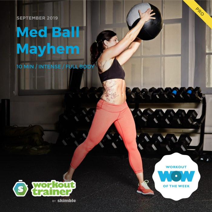 Workout Trainer by Skimble: Pro Workout of the Week: Med Ball Mayhem