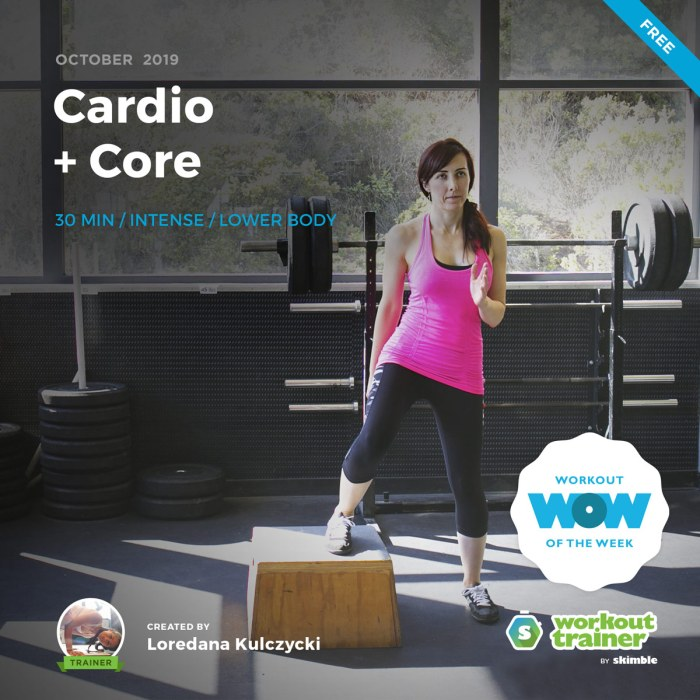 Workout Trainer by Skimble: Free Workout of the Week: Cardio + Core by Loredana Kulczycki