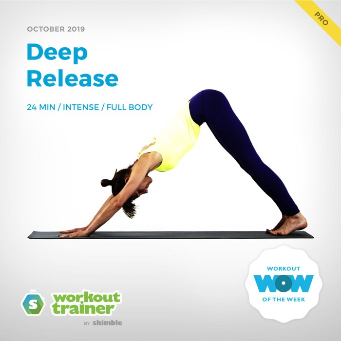 Workout Trainer by Skimble: Pro Workout of the Week: Deep Release