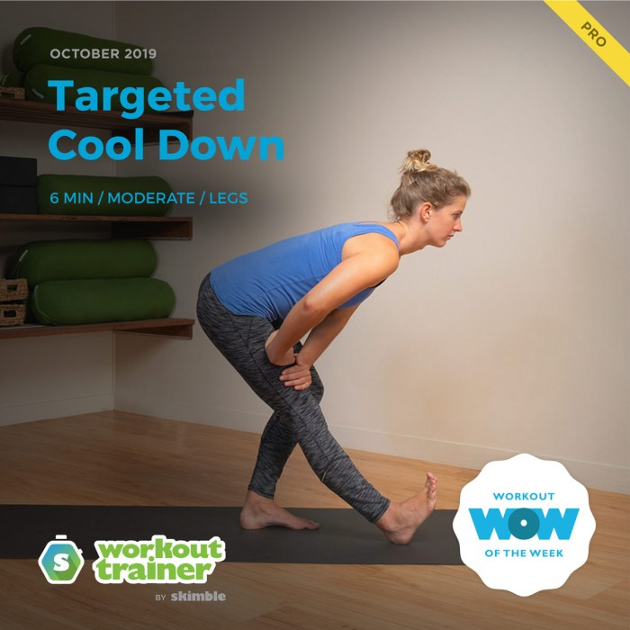 Workout Trainer by Skimble: Pro Workout of the Week: Targeted Cool Down