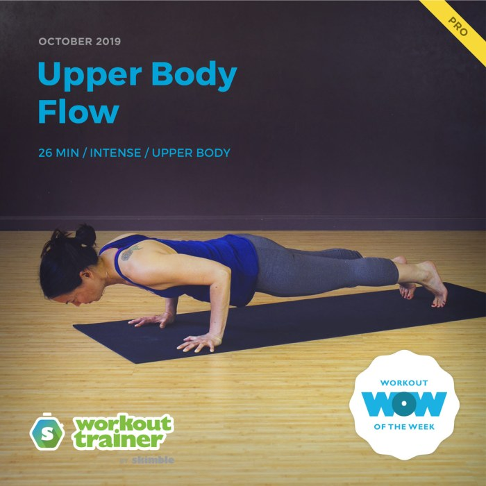 Workout Trainer by Skimble: Pro Workout of the Week: Upper Body Flow
