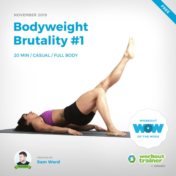 Workout Trainer by Skimble: Free Workout of the Week: Bodyweight Brutality #1 by Sam Ward