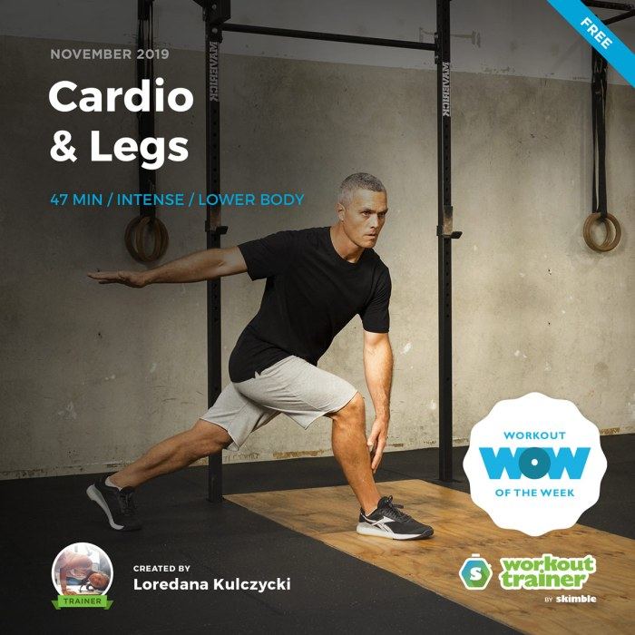 Workout Trainer by Skimble: Free Workout of the Week: Cardio & Legs by Loredana Kulczycki