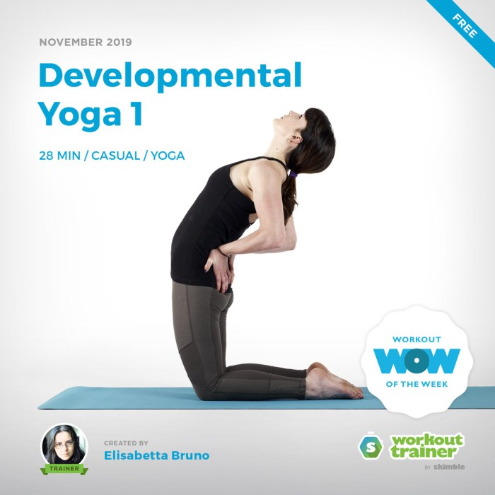 Workout Trainer by Skimble: Free Workout of the Week: Developmental Yoga 1 by Elisabetta Bruno