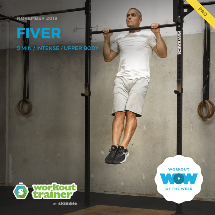 Workout Trainer by Skimble: Pro Workout of the Week: FIVER