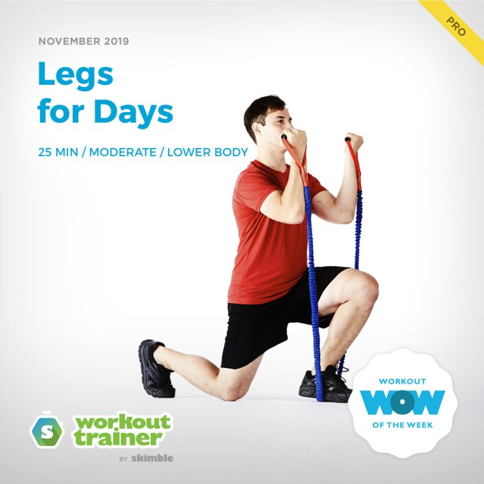 Workout Trainer by Skimble: Pro Workout of the Week: Legs for Days