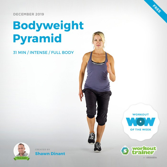 Workout Trainer by Skimble: Free Workout of the Week: Bodyweight Pyramid by Shawn Dinant
