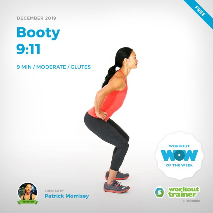 Workout Trainer by Skimble: Free Workout of the Week: Booty 9:11 by Patrick Morrisey