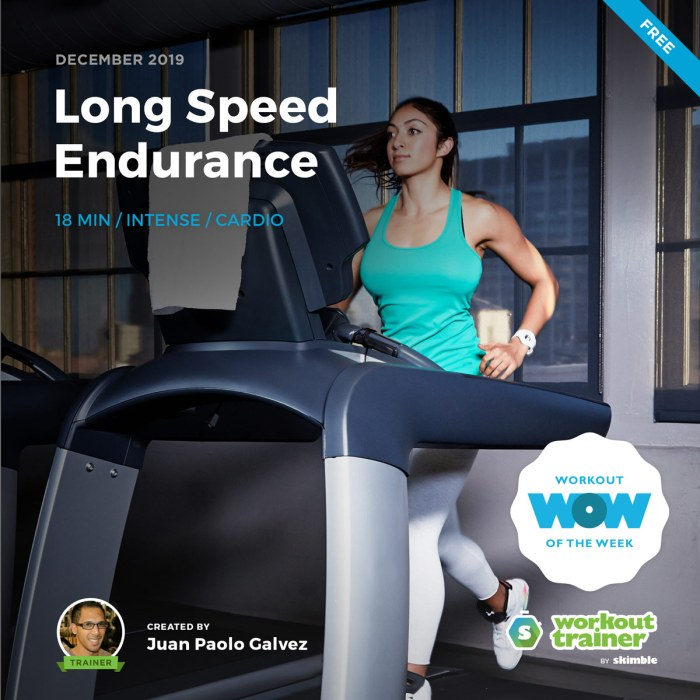 Workout Trainer by Skimble: Free Workout of the Week: Long Speed Endurance by Juan Paolo Galvez