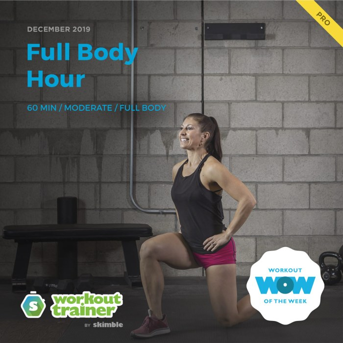 Workout Trainer by Skimble: Pro Workout of the Week: Full Body Hour