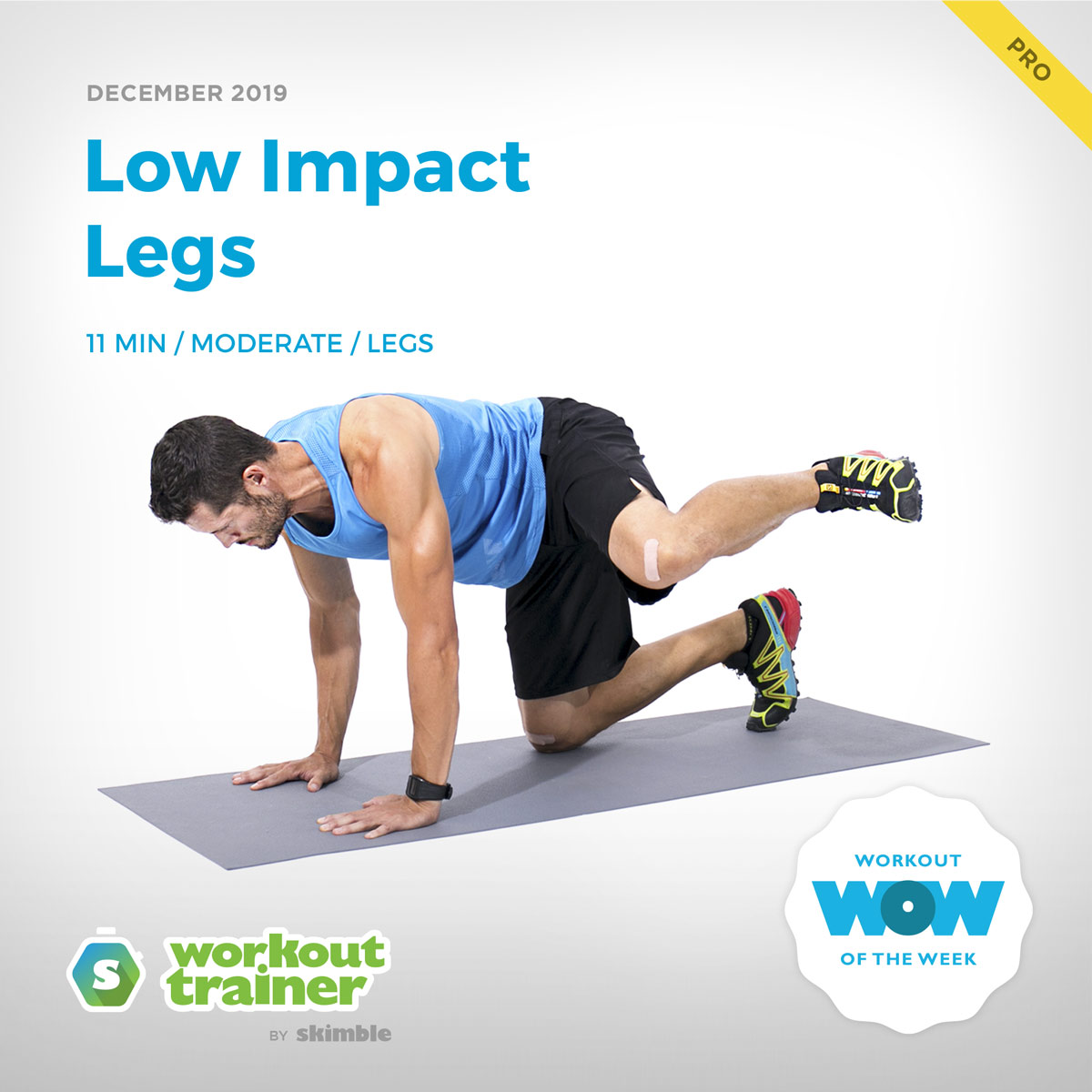 Workout Trainer by Skimble: Pro Workout of the Week: Low Impact Legs