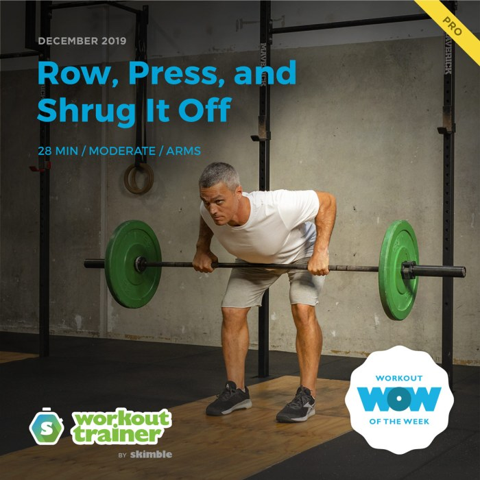 Workout Trainer by Skimble: Pro Workout of the Week: Row, Press, and Shrug It Off