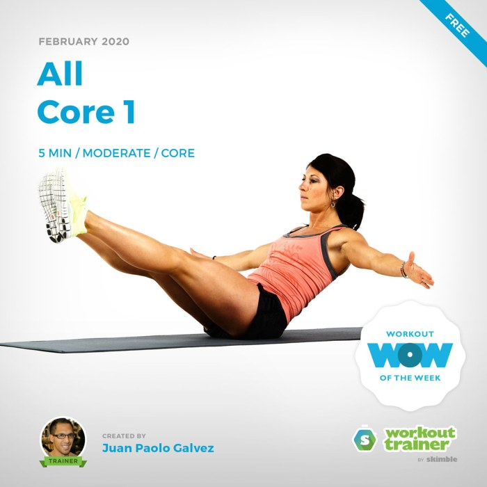 Workout Trainer by Skimble: Free Workout of the Week: All Core 1