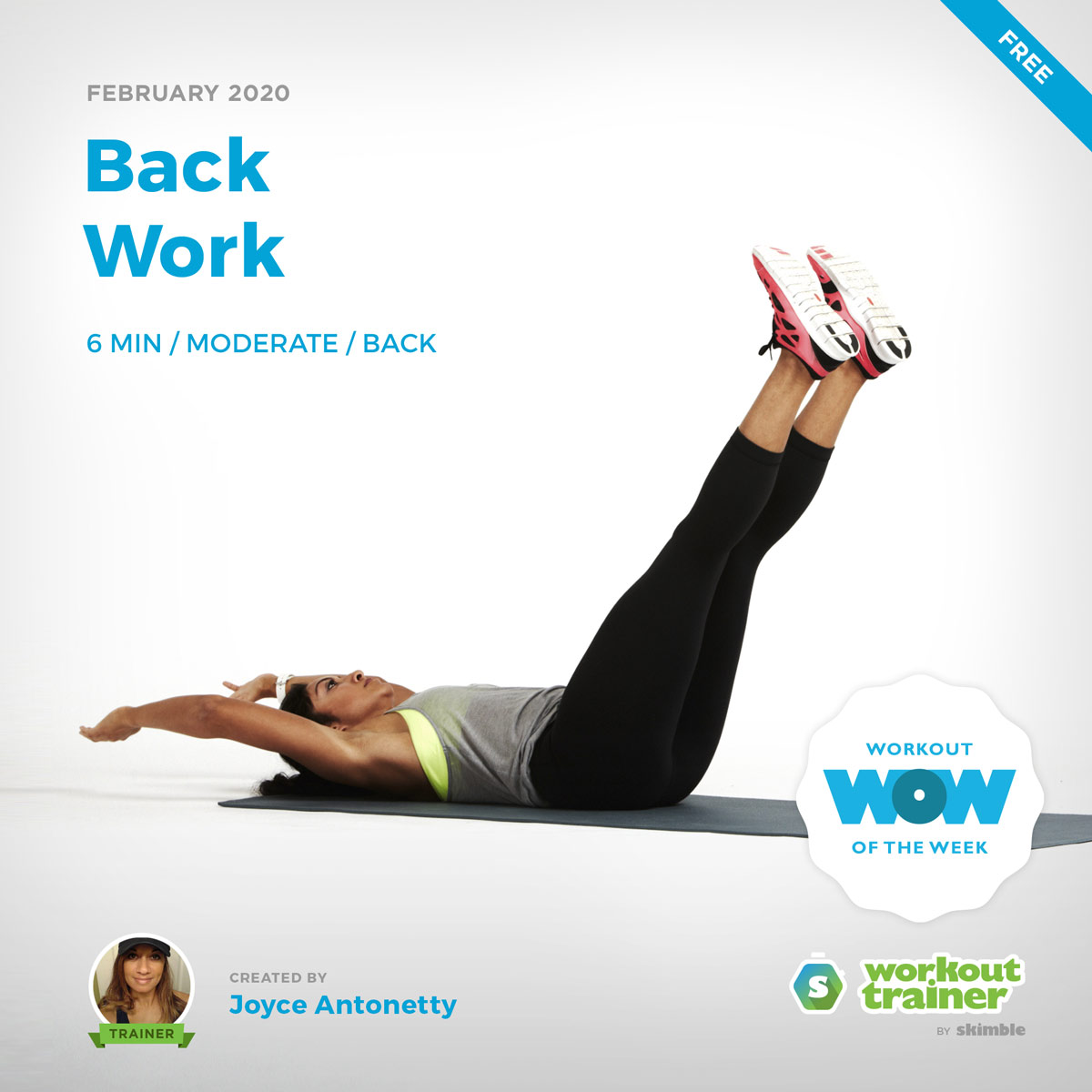 Workout Trainer by Skimble: Free Workout of the Week: Back Work by Joyce Antonetty