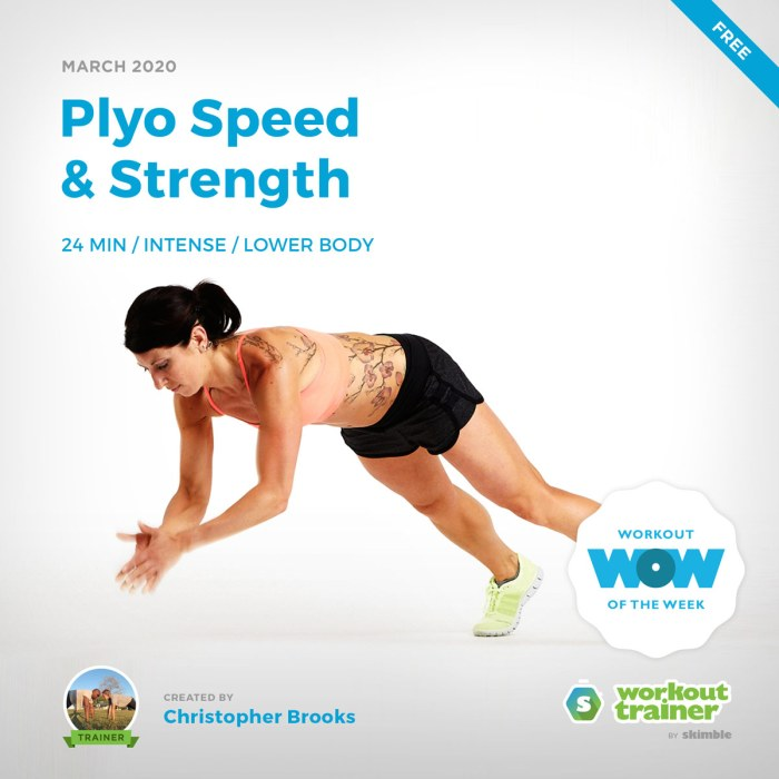 Workout Trainer by Skimble: Free Workout of the Week: Plyo Speed & Strength by Christopher Brooks