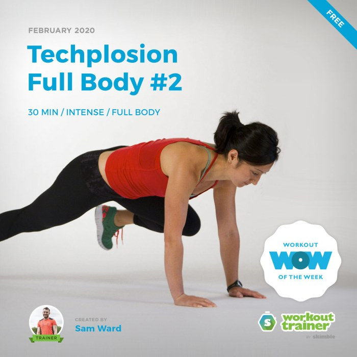 Workout Trainer by Skimble: Free Workout of the Week: Techplosion Full Body #2 by Sam Ward
