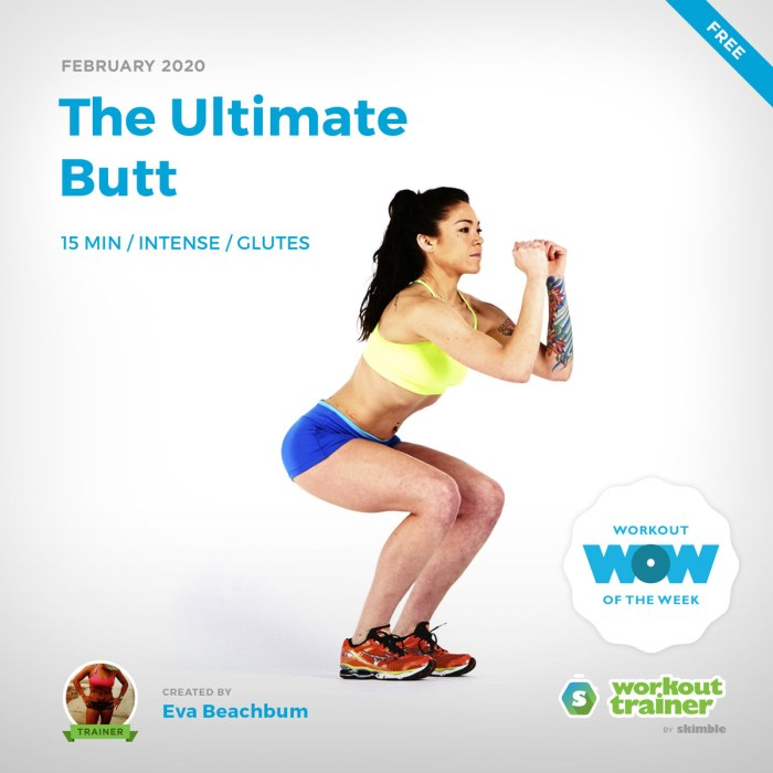 Workout Trainer by Skimble: Free Workout of the Week: The Ultimate Butt by Eva Beachbum