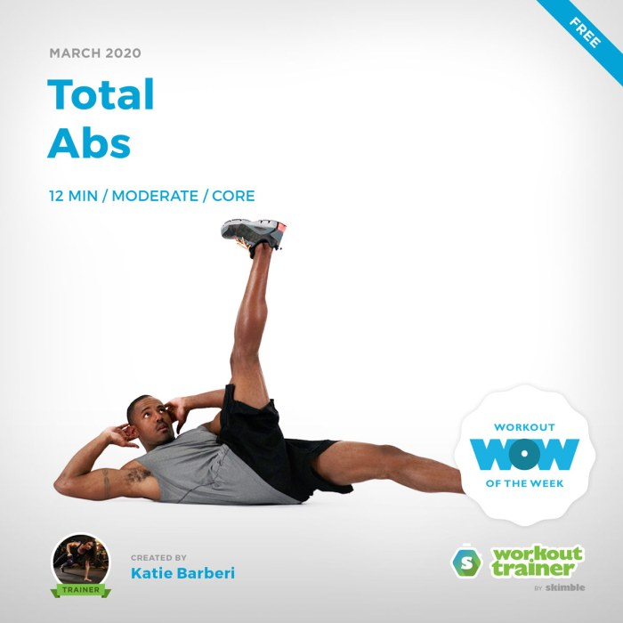 Workout Trainer by Skimble: Free Workout of the Week: Total Abs by Katie Barberi