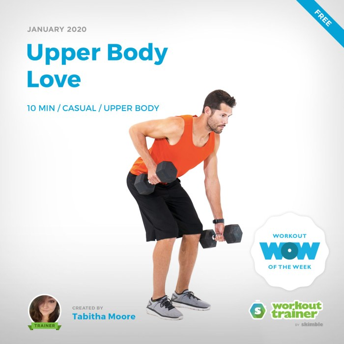 Workout Trainer by Skimble: Free Workout of the Week: Upper Body Love by Tabitha Moore