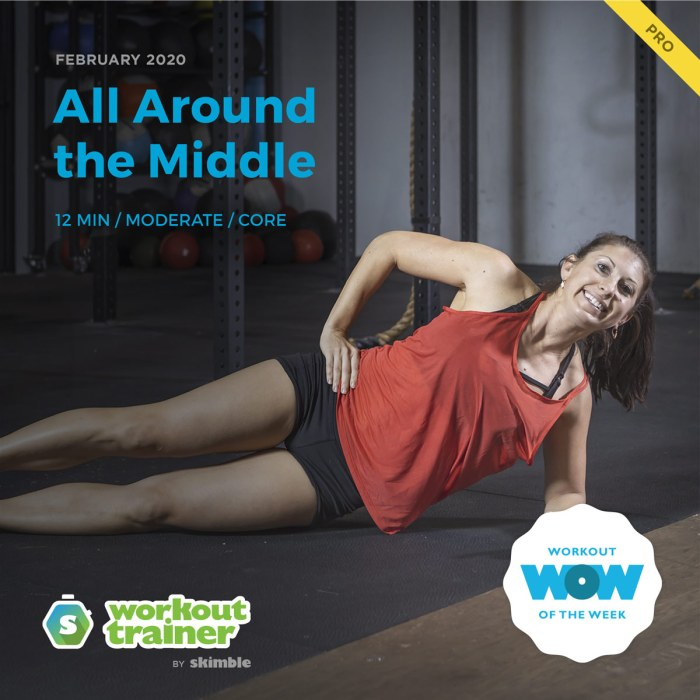 Workout Trainer by Skimble: Pro Workout of the Week: All Around the Middle