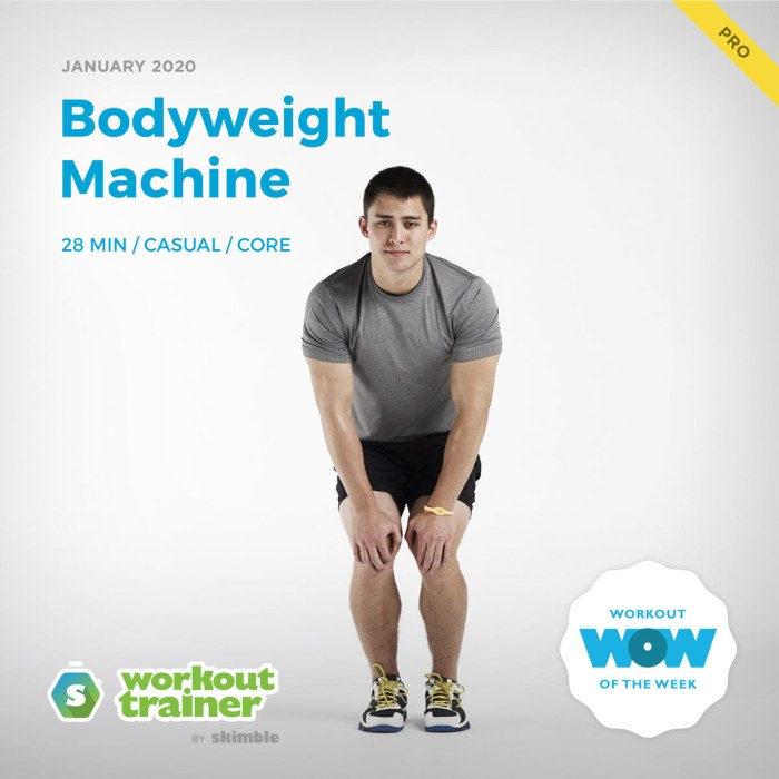 Workout Trainer by Skimble: Pro Workout of the Week: Bodyweight Machine