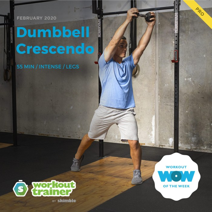Workout Trainer by Skimble: Pro Workout of the Week: Dumbbell Crescendo
