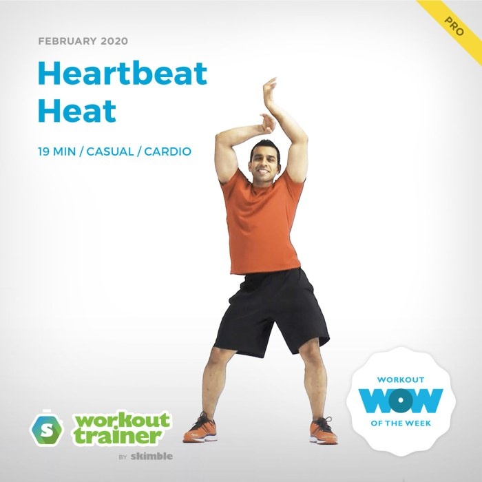 Workout Trainer by Skimble: Pro Workout of the Week: Heartbeat Heat