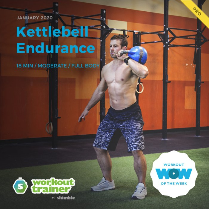 Workout Trainer by Skimble: Pro Workout of the Week: Kettlebell Endurance