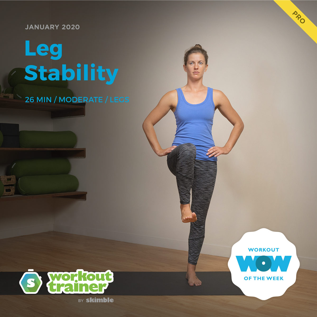 Workout Trainer by Skimble: Pro Workout of the Week: Leg Stability