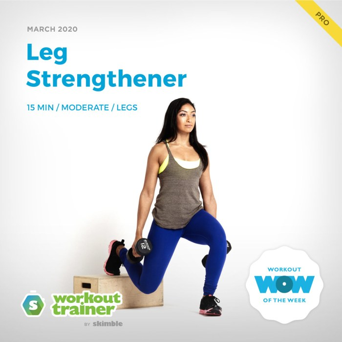 Workout Trainer by Skimble: Pro Workout of the Week: Leg Strengthener