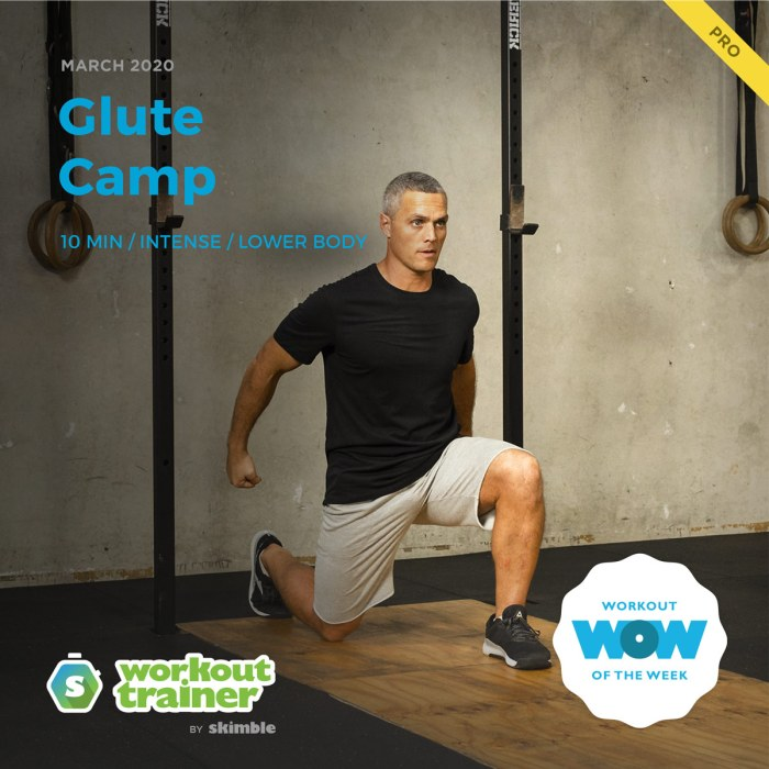 Workout Trainer by Skimble: Pro Workout of the Week: Glute Camp