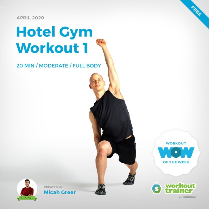 Workout Trainer by Skimble: Free Workout of the Week: Hotel Gym Workout 1 by Micah Greer
