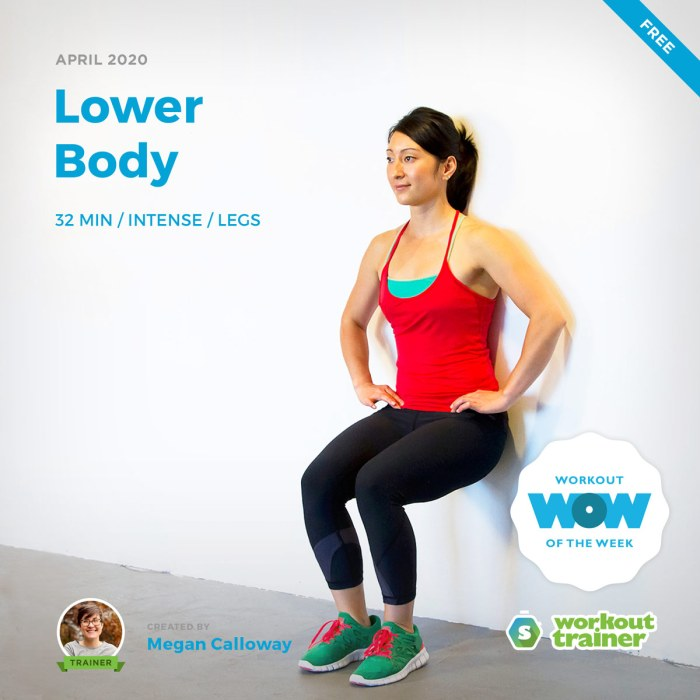 Workout Trainer by Skimble: Free Workout of the Week: Lower Body by Megan Calloway