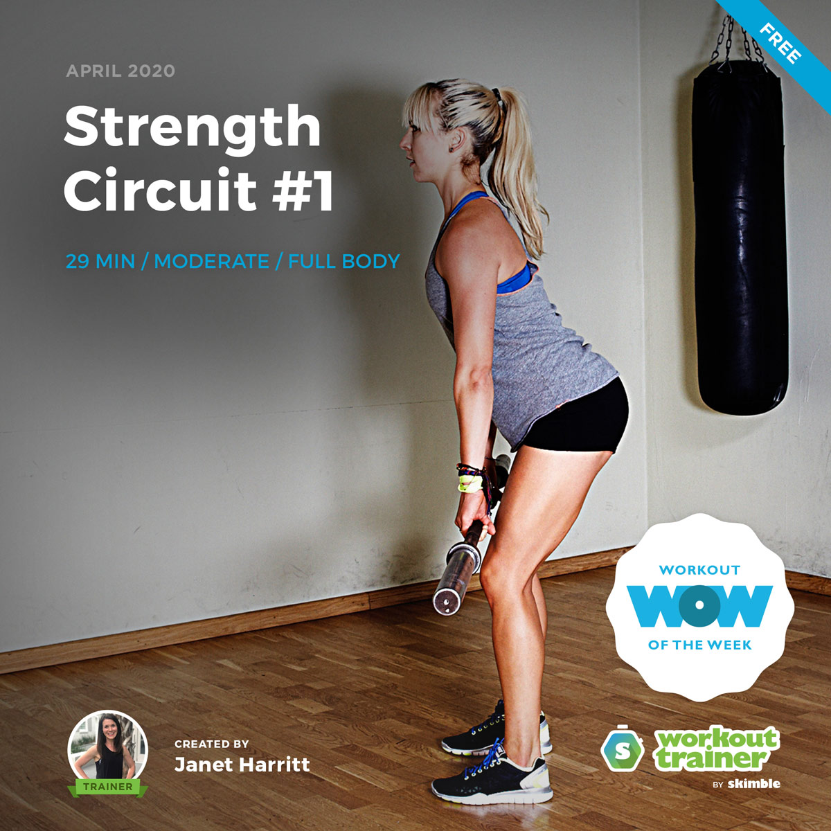 Workout Trainer by Skimble: Free Workout of the Week: Strength Circuit #1 by Janet Harritt