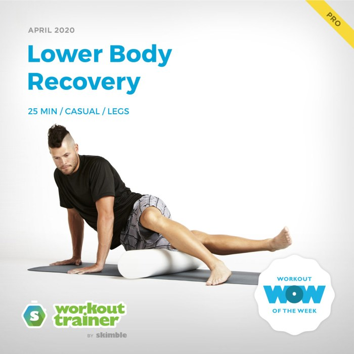 Workout Trainer by Skimble: Pro Workout of the Week: Lower Body Recovery