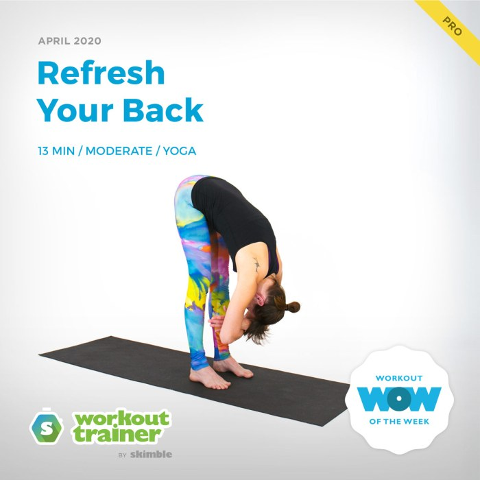 Workout Trainer by Skimble: Pro Workout of the Week: Refresh Your Back