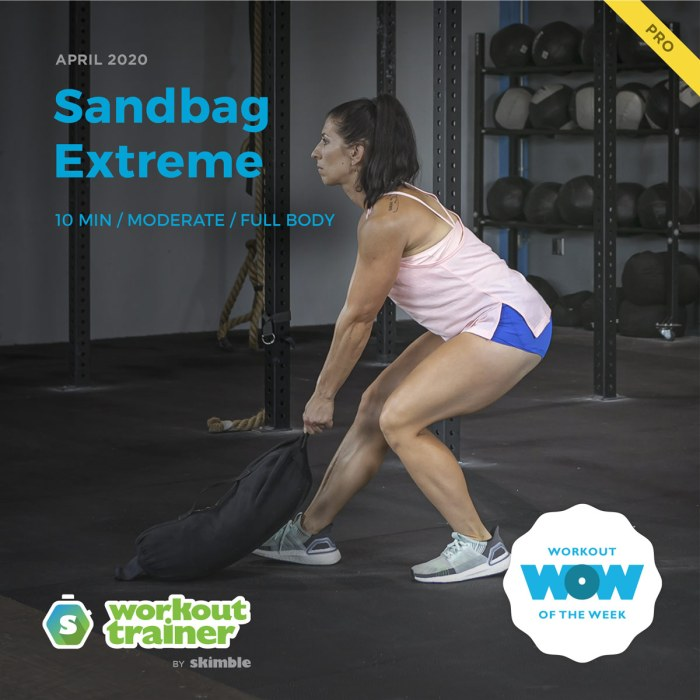 Workout Trainer by Skimble: Pro Workout of the Week: Sandbag Extreme