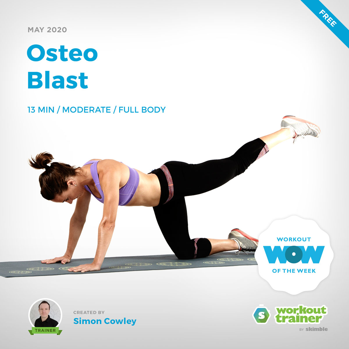 Workout Trainer by Skimble: Free Workout of the Week: Osteo Blast by Simon Cowley