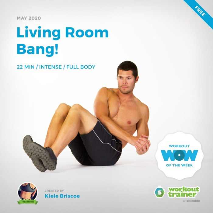 Workout Trainer by Skimble: Free Workout of the Week: Living Room Bang! by Kiele Briscoe