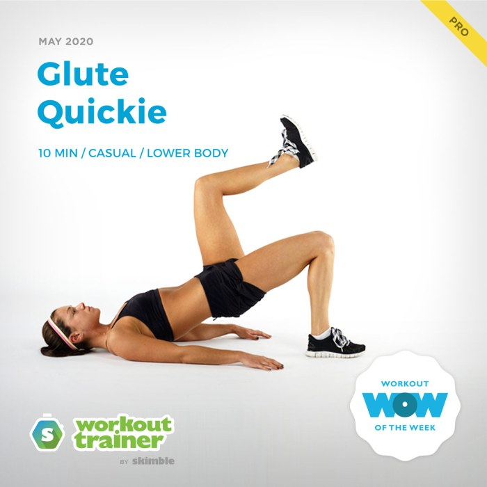Workout Trainer by Skimble: Pro Workout of the Week: Glute Quickie