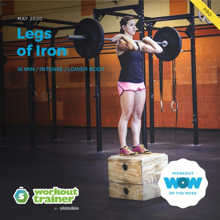 Workout Trainer by Skimble: Pro Workout of the Week: Legs of Iron