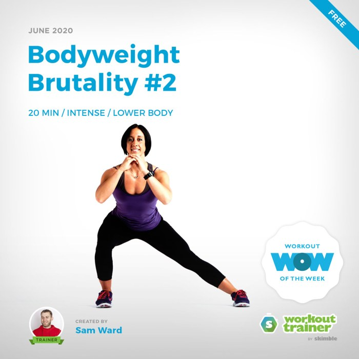 Workout Trainer by Skimble: Free Workout of the Week: Bodyweight Brutality #2 by Sam Ward