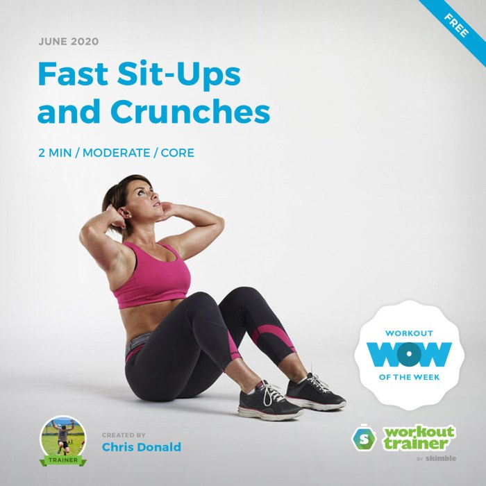 Workout Trainer by Skimble: Free Workout of the Week: Fast Sit-Ups and Crunches by Chris Donald