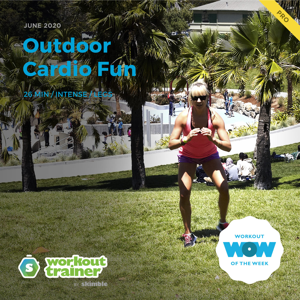 Workout Trainer by Skimble: Pro Workout of the Week: Outdoor Cardio Fun