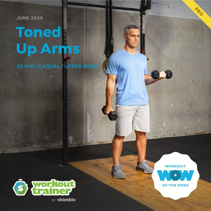 Workout Trainer by Skimble: Pro Workout of the Week: Toned Up Arms