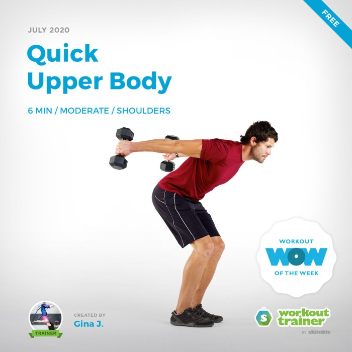 Workout Trainer by Skimble: Free Workout of the Week: Quick Upper Body by Gina J